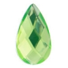 Acrylic 21x12mm Pear Shape Facet Lime Green
